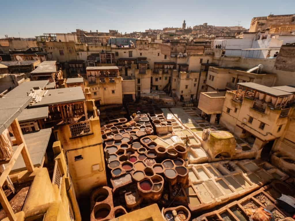 Morocco-Fes-chouara-tannery