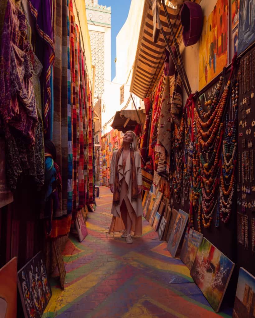 Morocco-Fes-Medina-rainbow-street