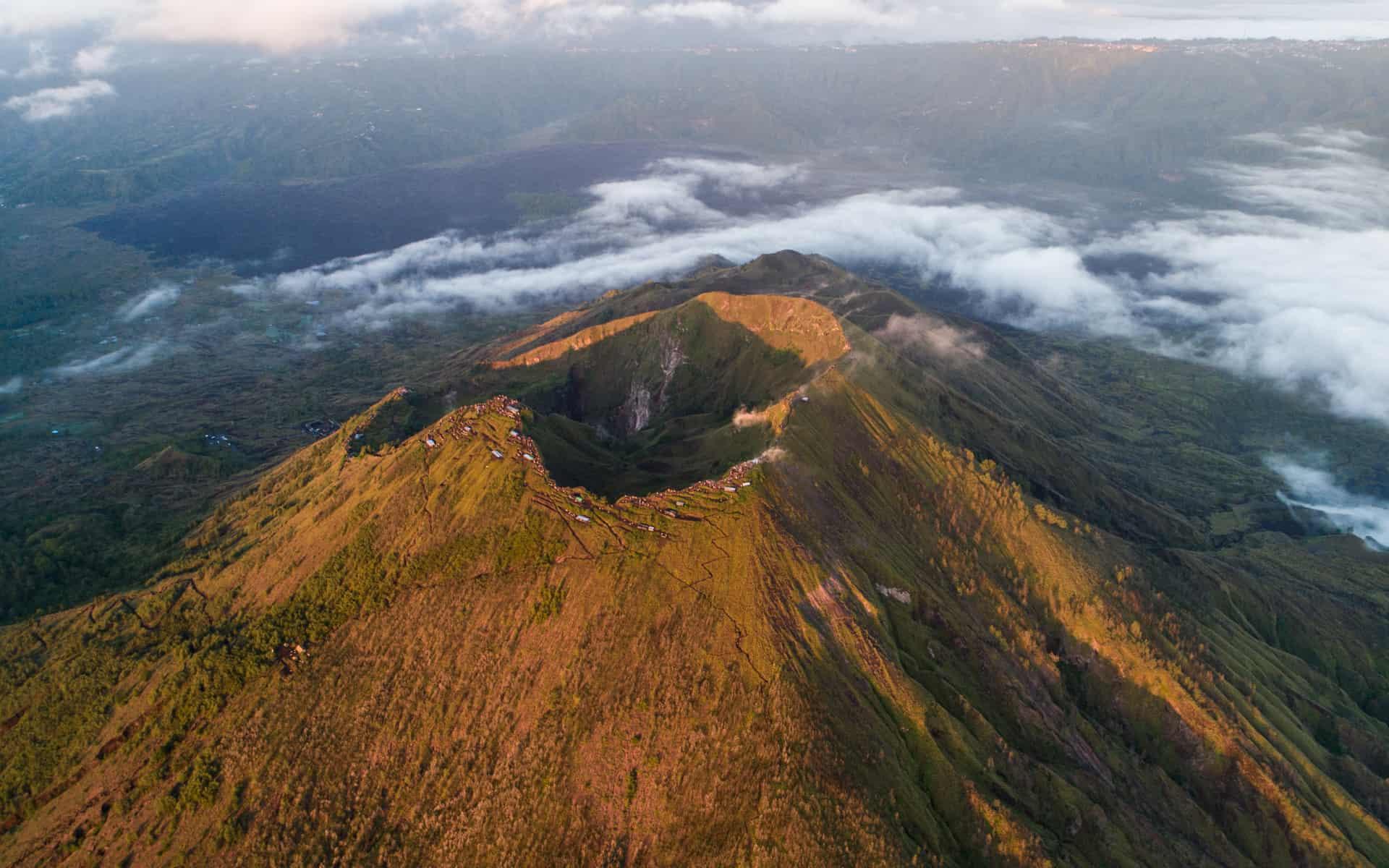 Mount-Batur-sunrise-crater-drone