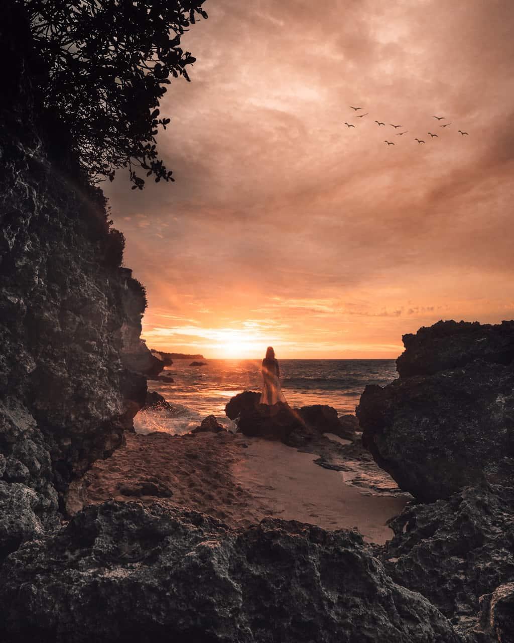 sunset-tegal-wangi-beach-jimbaran