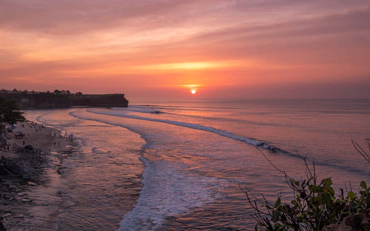 balangan-beach-viewpoint-sunset