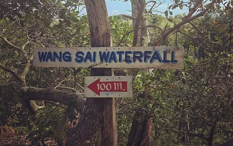 wang-sai-waterfall-sign-koh-phangan