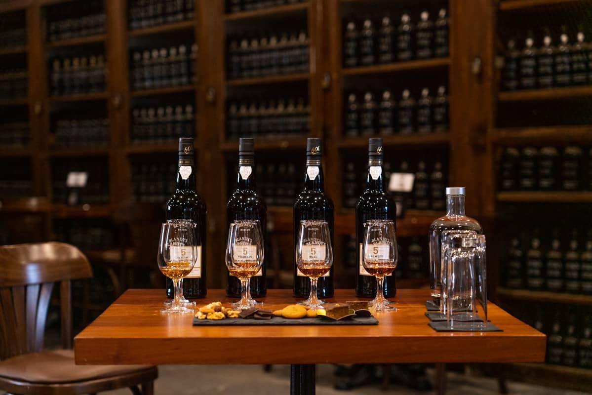 blandys-funchal-madeira-wine-setup