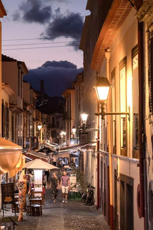 funchal-night-street-lights