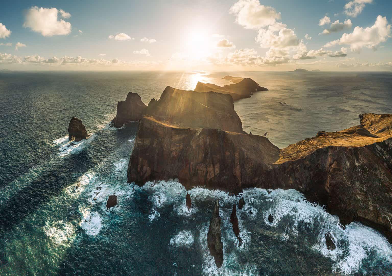 ponta-de-sao-lourenco-drone-sunrise